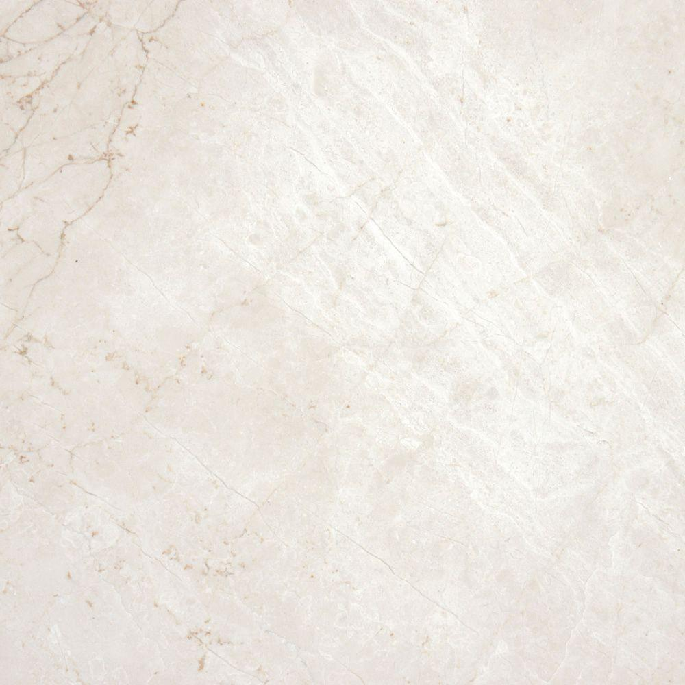 Msi Paradise Beige 12 In X 12 In Polished Marble Floor