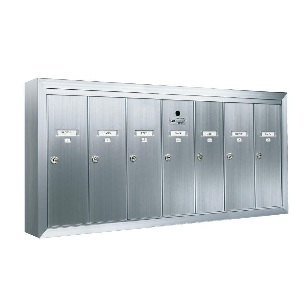 Florence 1250 Vertical Series 7-Compartment Aluminum Surface-Mount Mailbox