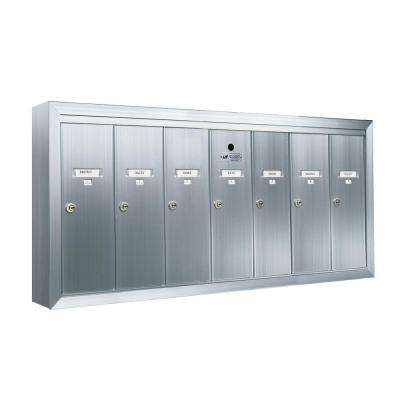 1250 Vertical Series 7-Compartment Aluminum Surface-Mount Mailbox