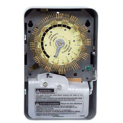 T1900 Series 20-Amp 24-Hour Heavy Duty Mechanical Time Switch with Steel Indoor Enclosure - Gray