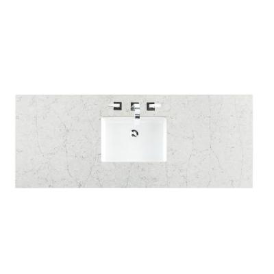60 in. Silestone Quartz Single Basin Vanity Top in Jasmine Pearl