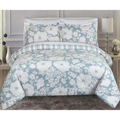 Chambray Floral King Comforter Set