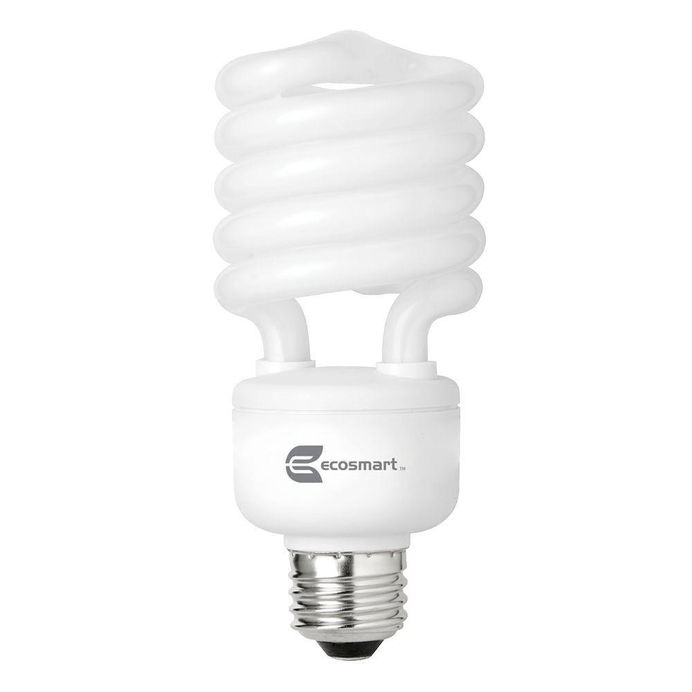 EcoSmart 100W Equivalent Daylight (5000K) Spiral CFL Light Bulb (4-Pack)