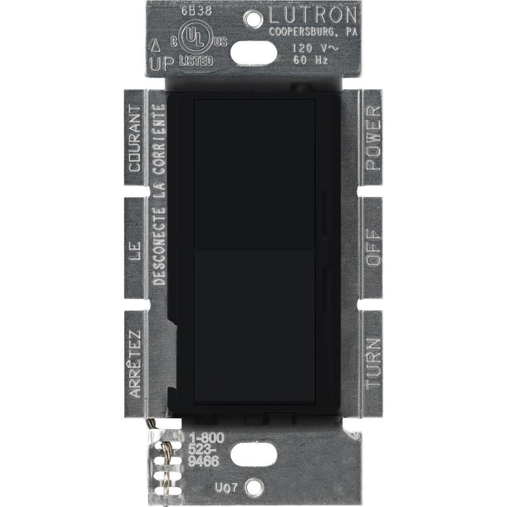 Diva 450-Watt Single-Pole Magnetic Low-Voltage Dimmer, Black