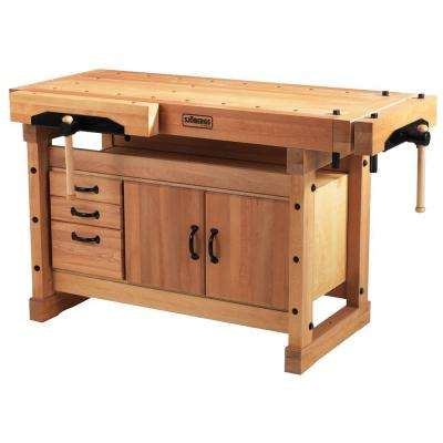 Elite 4 ft. x 6 in. Workbench with Storage Cabinet Combo Kit