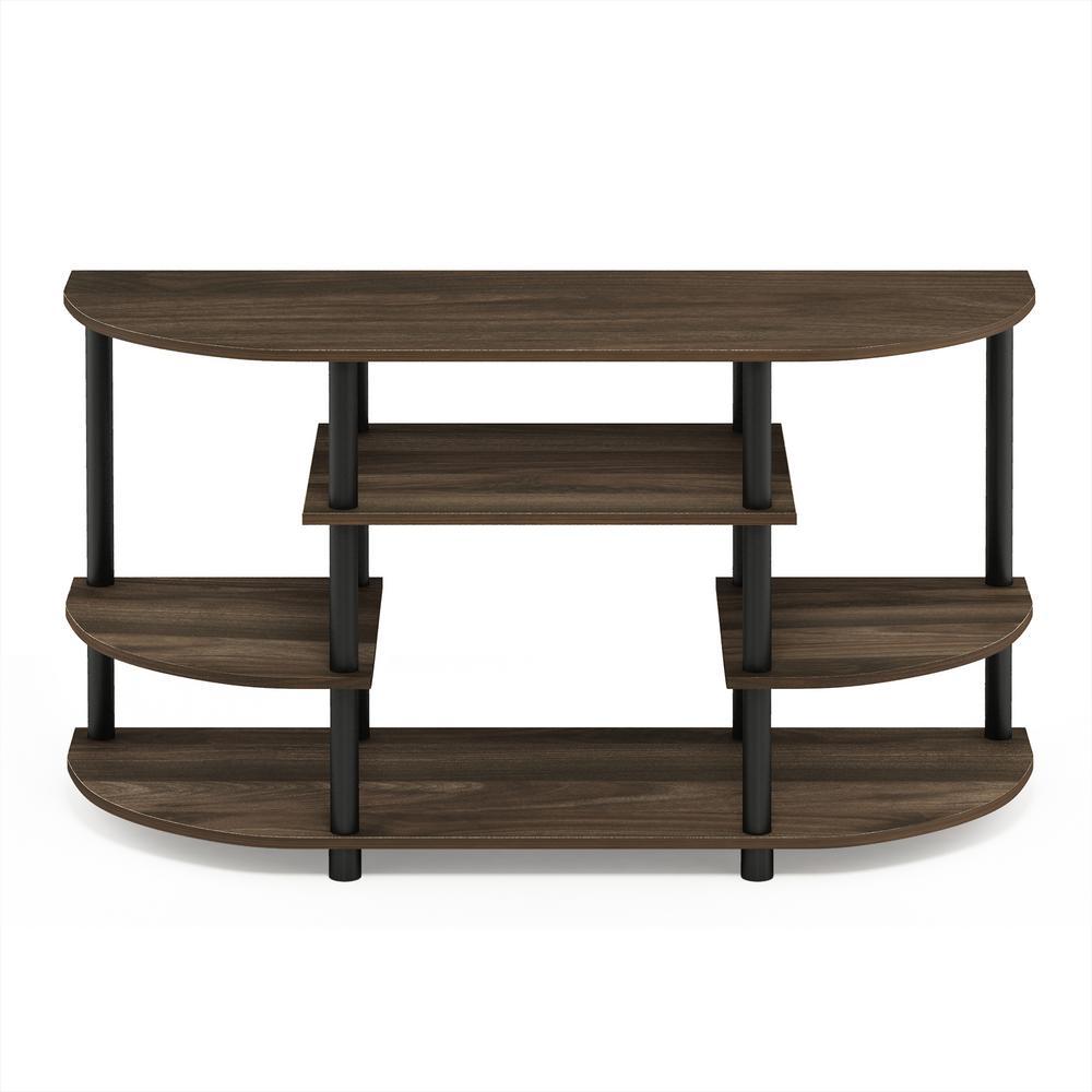 Furinno Jaya Columbia Walnut Simple Design No Tool TV Stand 15116CWN/BK