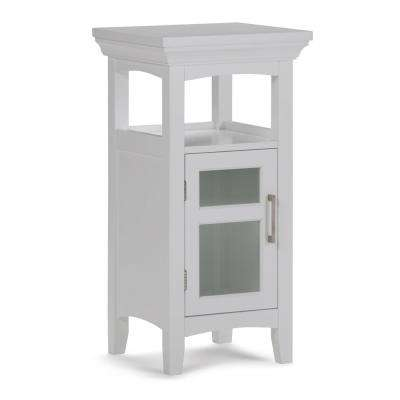 Avington Ready to Assemble 15 x 30 x 14 in. Bath Floor Storage Cabinet with Tempered Glass Door in White