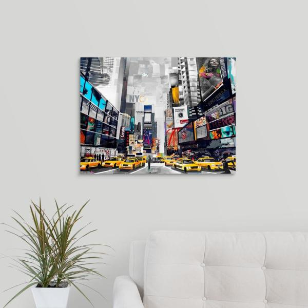 GreatBigCanvas ''Times Square'' by Grey James Canvas Wall Art 2532154_24_24x18