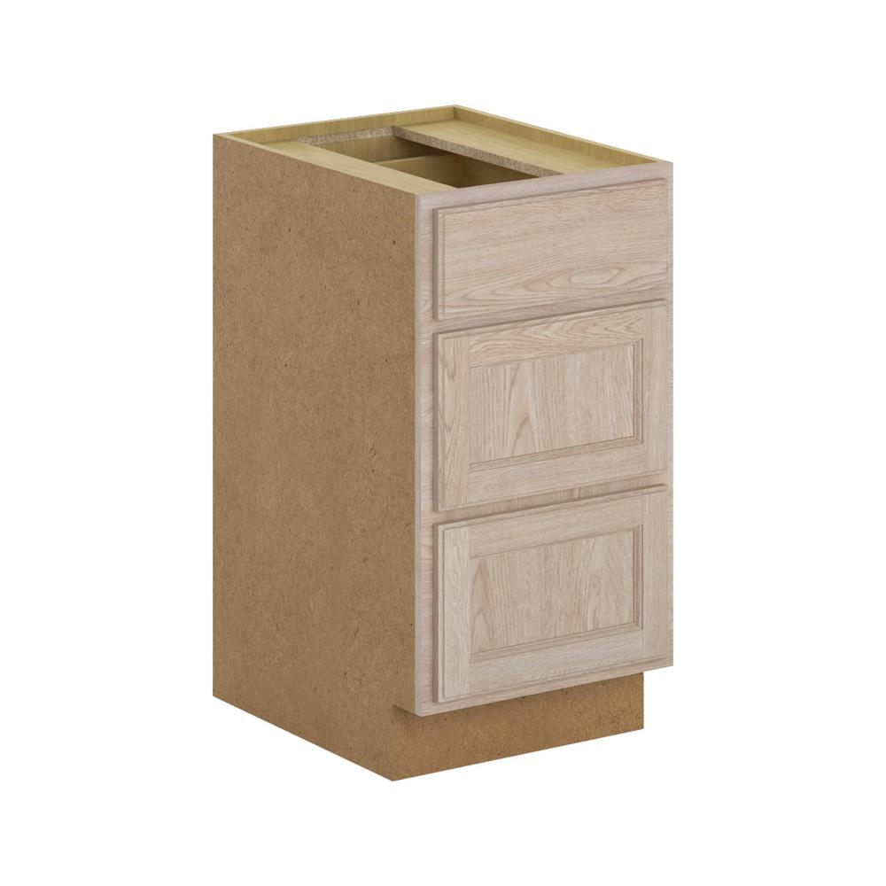 Hampton Bay Stratford Embled 18x34 5x24 In 3 Drawer Base Cabinet With Soft