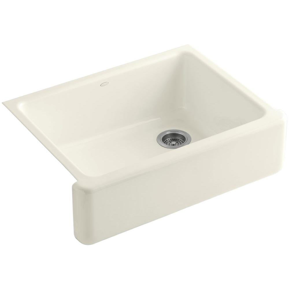 Whitehaven Farmhouse Apron-Front Cast Iron 30 in. Single Basin Kitchen Sink