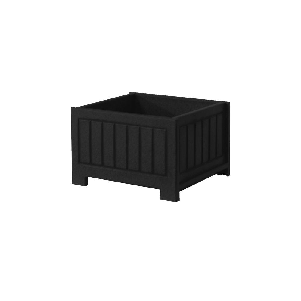 Catalina 17 in. x 17 in. Black Recycled Plastic Commercial Grade