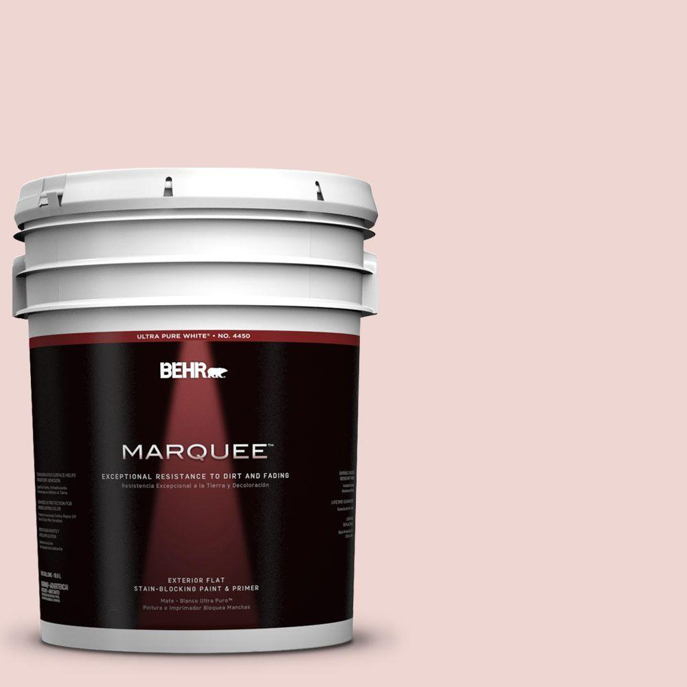BEHR MARQUEE 5-gal. #150E-1 Delicate Blush Flat Exterior Paint