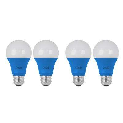 40W Equivalent Blue-Colored A19 LED Light Bulb (Case of 4)