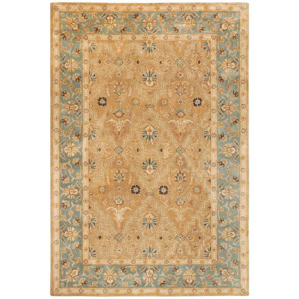 Home decorators collection menton gold blue 4 ft x 6 ft for Home decorators chenille rug