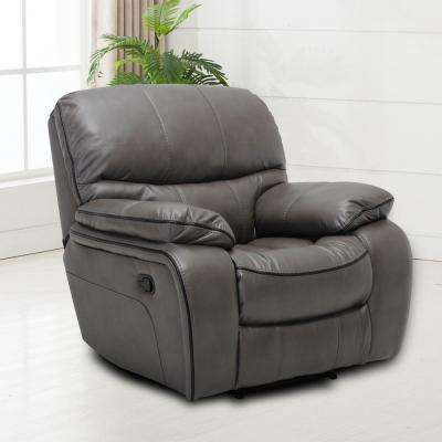 Montebello Faux Grey Leather Recliner
