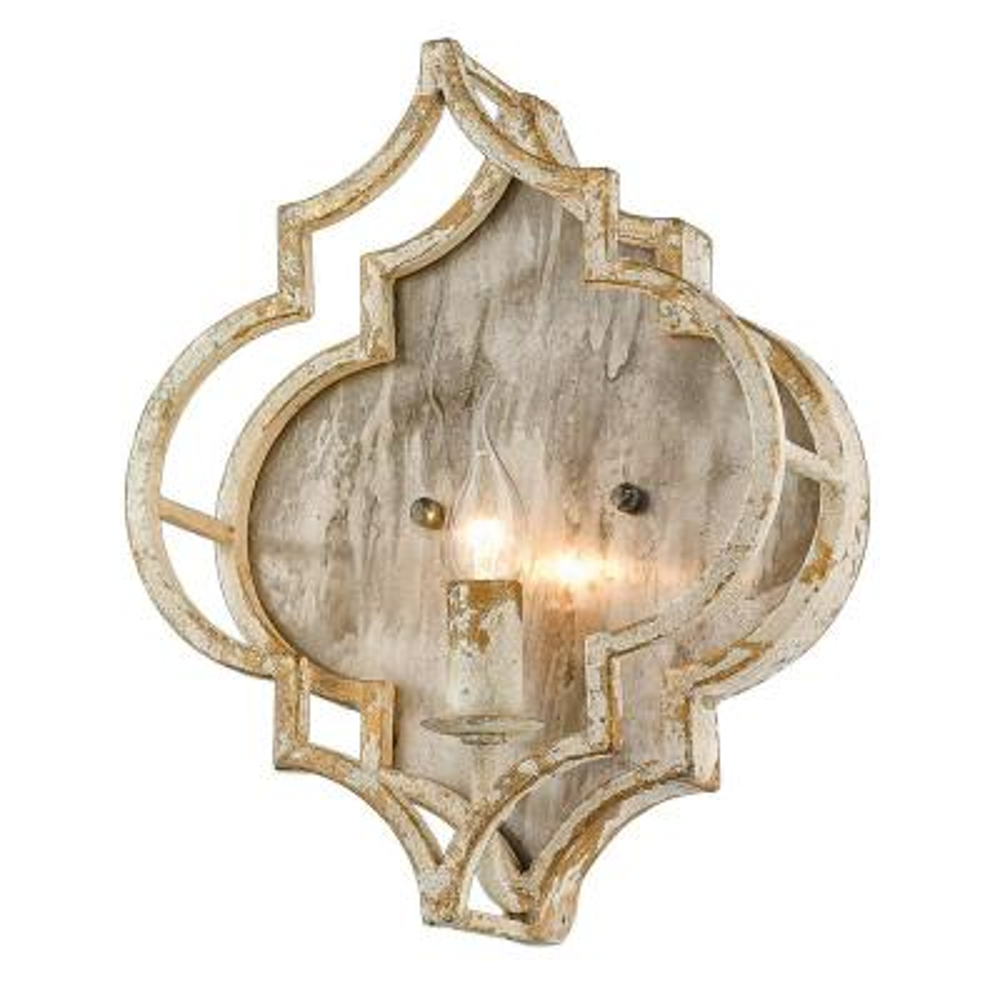 Ravina 5.125 in. 1-Light Antique Ivory Sconce