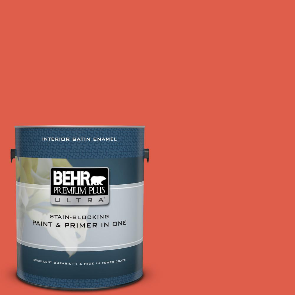 P180 6 Pimento Satin Enamel Interior Paint And Primer In One