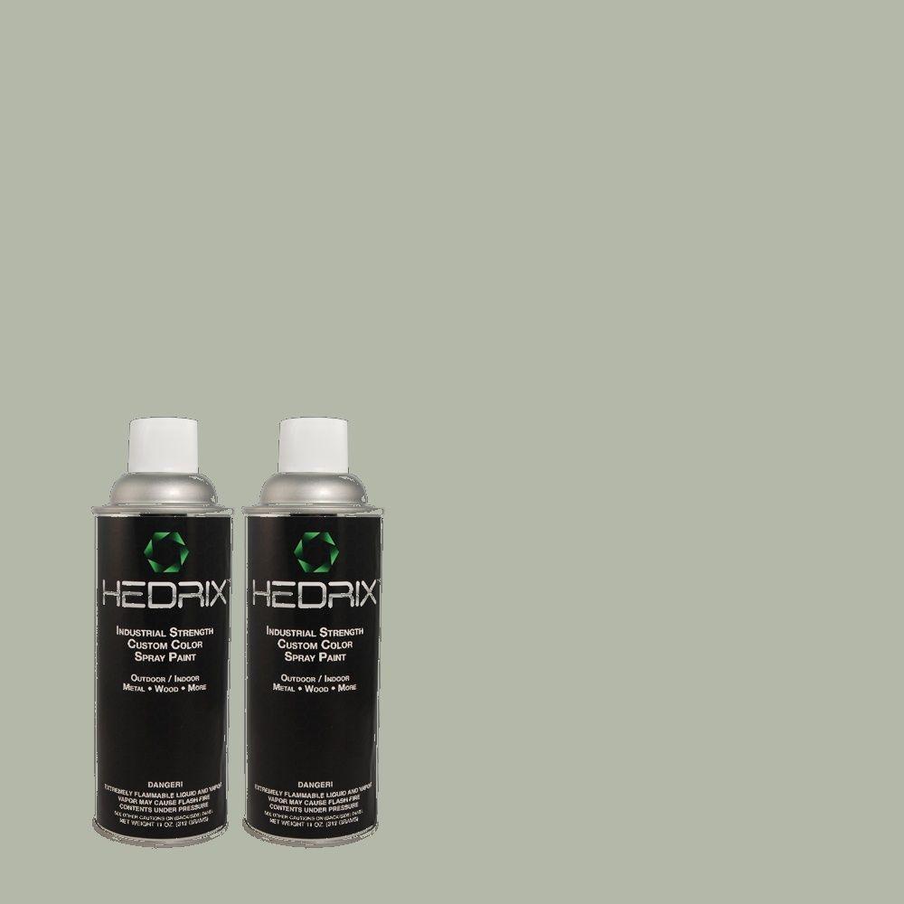 Hedrix 11 oz. Match of PPU12-9 Frozen Pond Flat Custom Spray Paint (8-Pack)