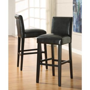 29 inch Black Cushioned Bar Stool (Set of 2) by