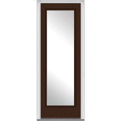 36 in. x 96 in. Classic Left-Hand Inswing Full Lite Clear Painted Steel Prehung Front Door