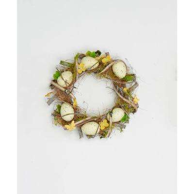 12 in. Spotted Easter Twig Wreath
