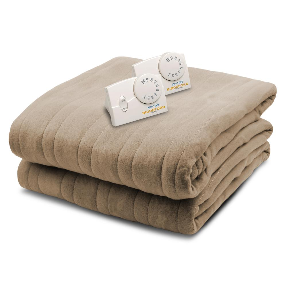 1004 Series Comfort Knit Heated 100 in. x 90 in. Fawn Kin...
