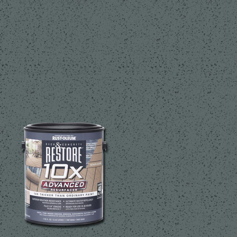 Rust-Oleum Restore 1 gal. 10X Advanced Pewter Deck and Concrete Resurfacer