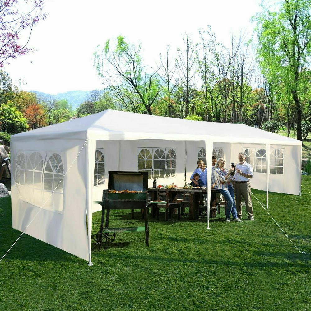 Costway 10 ft. x 30 ft. White Canopy Heavy-Duty Gazebo Pavilion Event Party Wedding Outdoor Patio Tent was $125.0 now $99.99 (20.0% off)