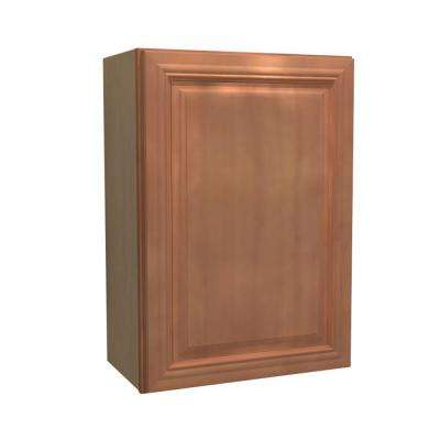 12x30x12 in. Dartmouth Assembled Wall Cabinet with 1 Door Left Hand in Cinnamon