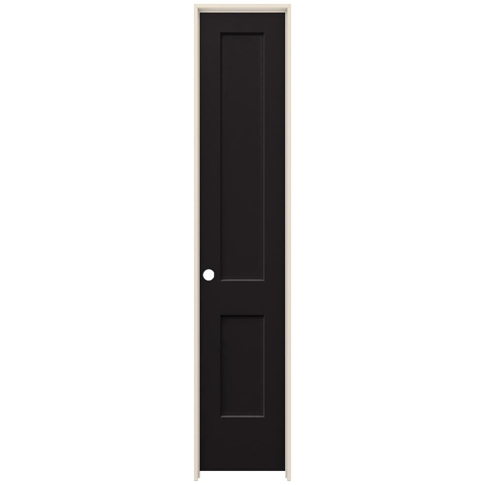20 in. x 96 in. Monroe Black Painted Right-Hand Smooth Solid