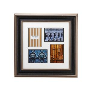 Bombay 23-1/4 inch x 23-1/4 inch Brown 4-Opening Hudson Collage Picture Frame by Bombay