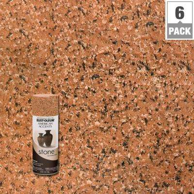 12 oz. Stone Creations Sienna Stone Textured Finish Spray Paint (6-Pack)
