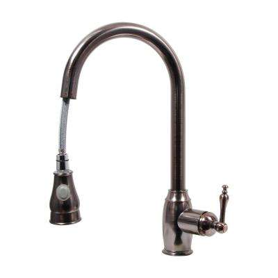 Ponto Platinum Series Single-Handle Pull-Out Sprayer Kitchen Faucet in Oil-Rubbed Bronze
