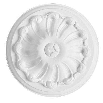 European Collection 5-7/8 in. x 1-9/16 in. Floral Polyurethane Ceiling Medallion