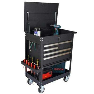 31 in. 5-Drawer Tool Utility Cart in Black