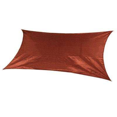 18 ft. x 10 ft. Terracotta Rectangle Ultra Shade Sail with Kit