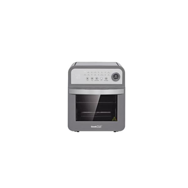 13 Qt. Gray Stainless Steel Air Fryer Oven with Rotisserie and Dehydrator, 8 Cooking Accessories Kits