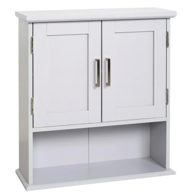Shaker Style 23 in. W Wall Cabinet with Open Shelf in Dove Gray