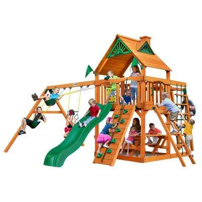 Navigator Wooden Playset with Monkey Bars and Slide