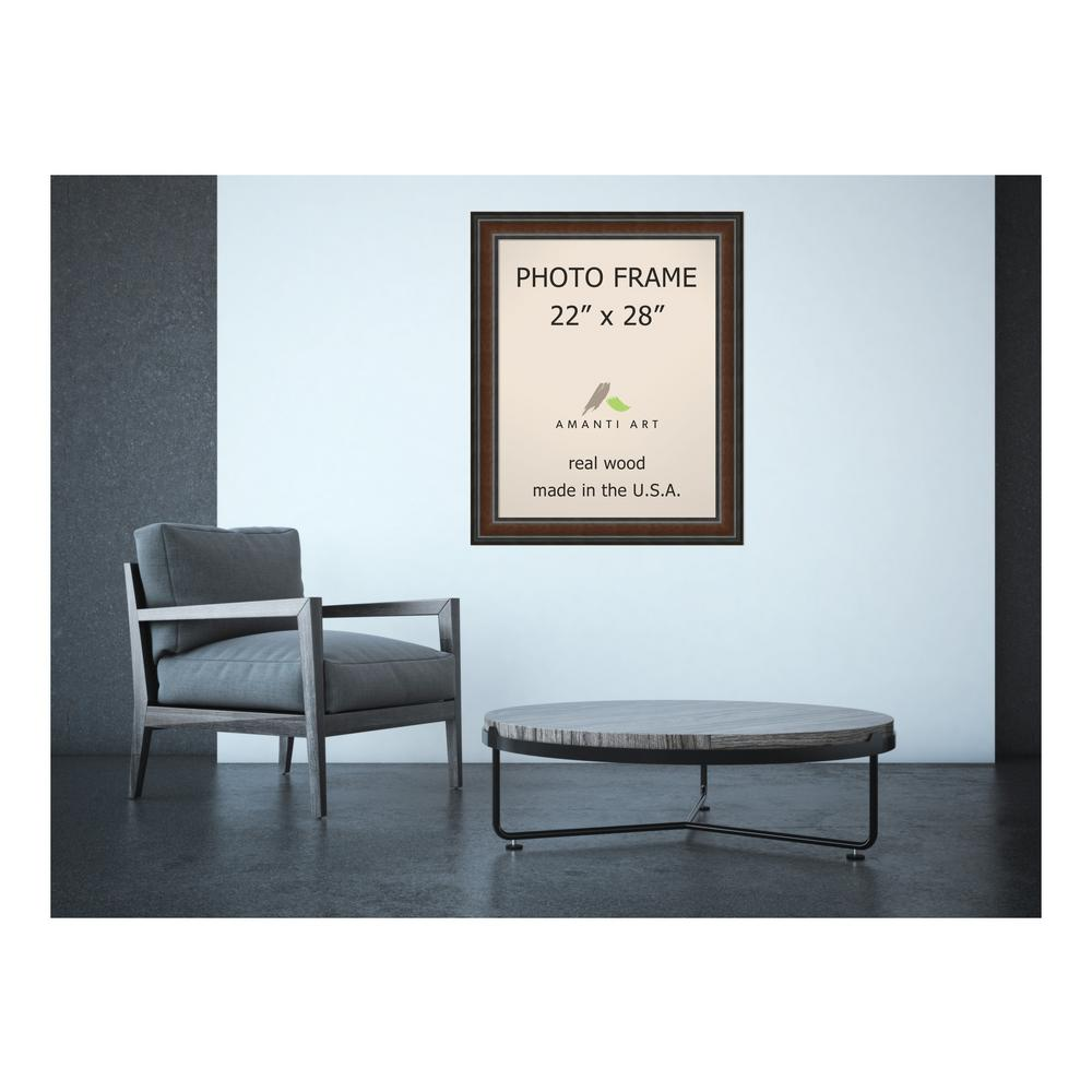 Amanti Art Cyprus 22 in. x 28 in. Brown Walnut Picture Frame ...