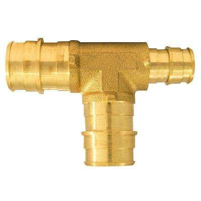 3/4 in. x 1/2 in. x 3/4 in. Brass PEX-A Expansion Barb Reducing Tee