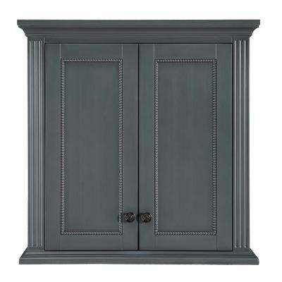 Rosamund 28 in. W x 28 in. H Wall Cabinet in Charcoal Grey