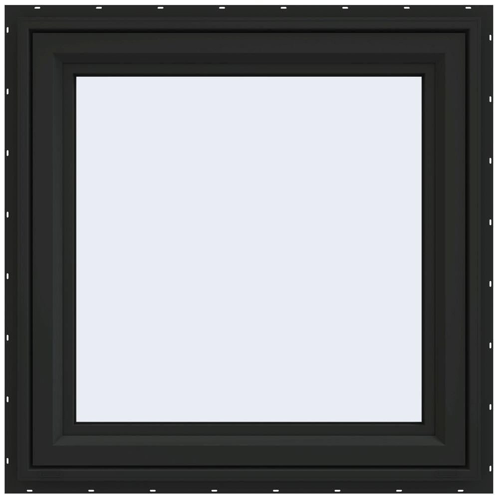 JELD-WEN 29.5 in. x 29.5 in. V-4500 Series Right-Hand Casement Vinyl Window - Bronze