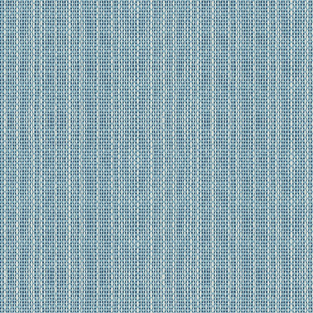 Grasscloth Wallpaper Samples: Chesapeake Kent Blue Faux Grasscloth Wallpaper Sample-3113
