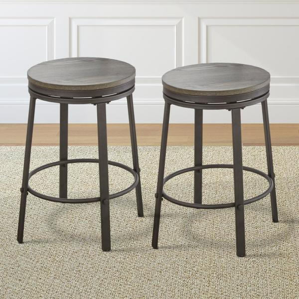 Steve Silver Portland Grey 24 In Counter Stool Set Of 2 Or420cs The Home Depot