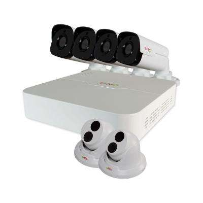 Ultra 8-Channel HD 2TB Surveillance NVR with (6) 4 Mega Pixel Cameras