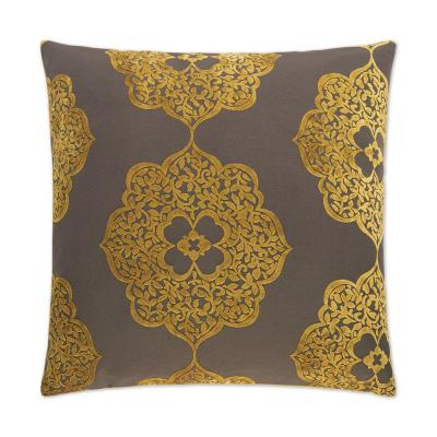 Maison Gold Geometric Down 24 in. x 24 in. Throw Pillow