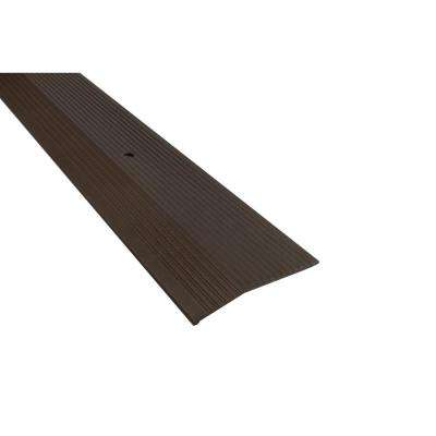Forest Brown 1/2 in. x 2 in. x 36 in. Fluted Carpet Trim