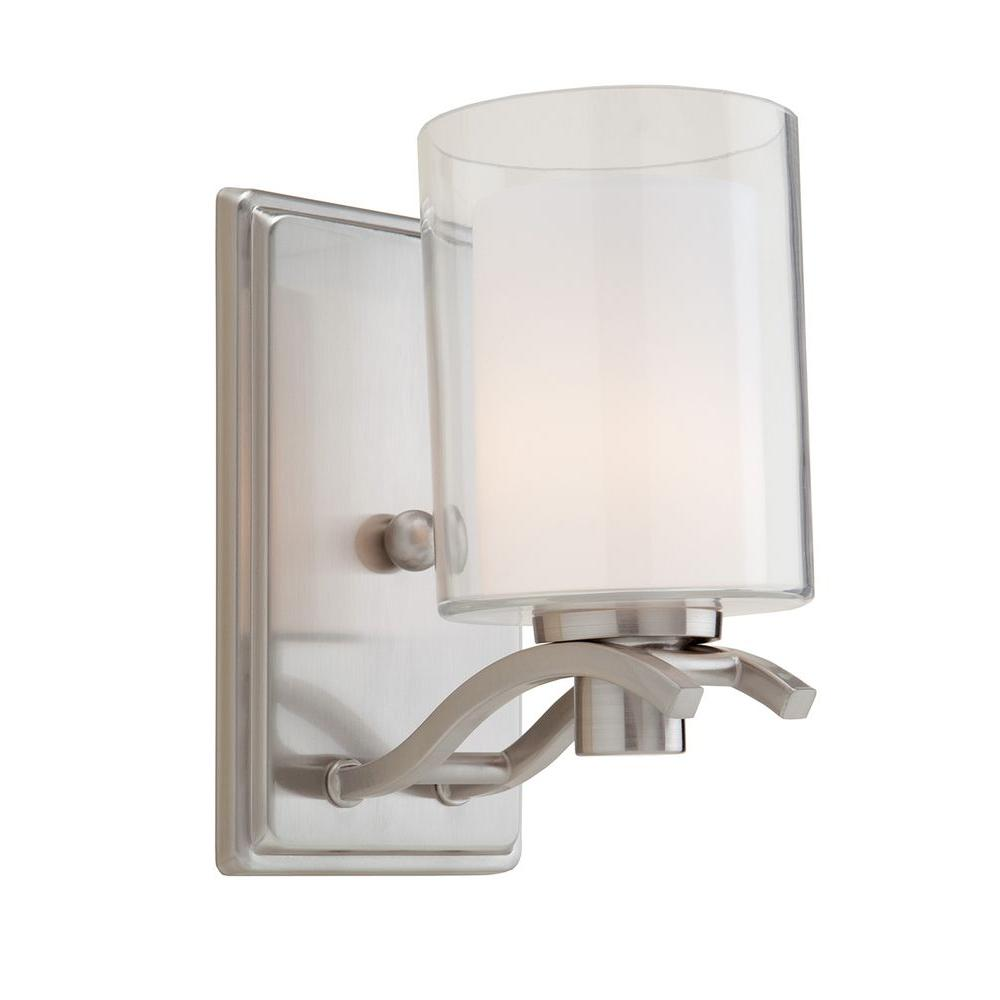 wall p polished lighting progress sconces march light sconce nickel collection