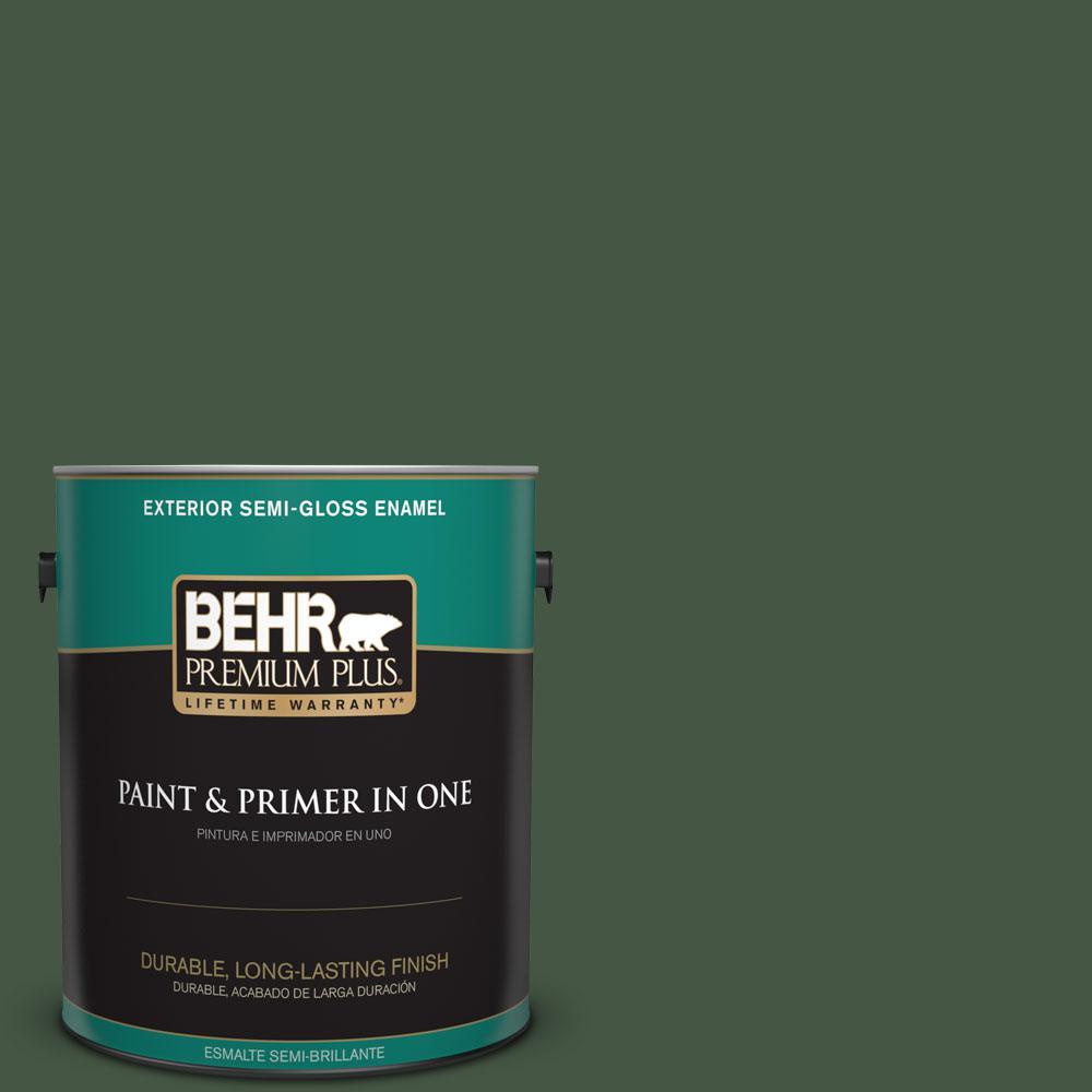1-gal. #ECC-11-3 Whispering Oaks Semi-Gloss Enamel Exterior Paint